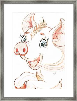 Jolly Miss Piggy Framed Print