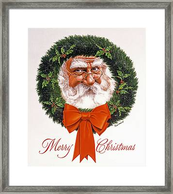 Jolly Old Saint Nick Framed Print by Richard De Wolfe