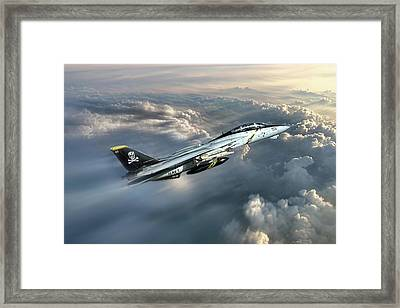 Jolly Rogers F-14 Tomcat Framed Print by Peter Chilelli