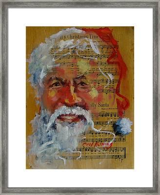 Jolly Santa Framed Print