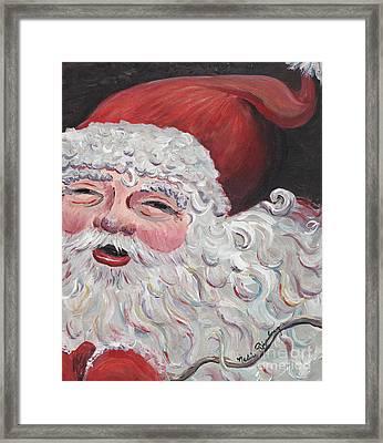 Jolly Santa Framed Print by Nadine Rippelmeyer