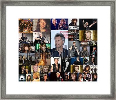 Jon Bon Jovi Collage  Framed Print