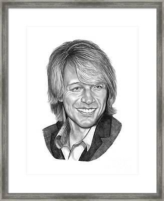 Jon Bon Jovi Framed Print by Murphy Elliott