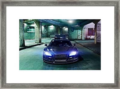 Jon Olsson Audi R8 Super Car  Framed Print
