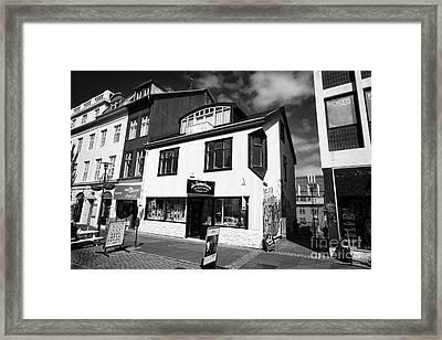 Jon Sigmundsson Laugavegur Main Pedestrian Shopping Street Reykjavik Iceland Framed Print