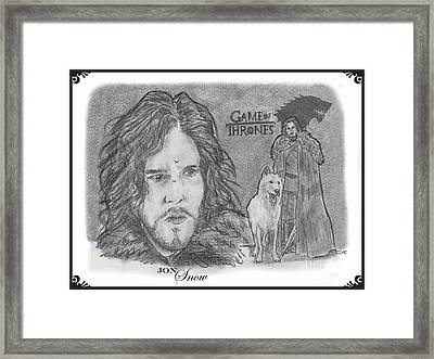 Jon Snow Framed Print by Chris  DelVecchio