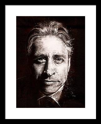Jon Stewart Framed Prints