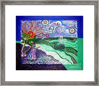 Jonah And The Whale Framed Print by Genevieve Esson