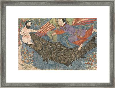 Jonah And The Whale Framed Print by Iranian School