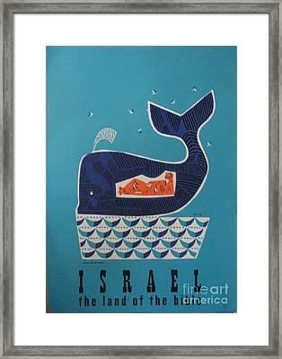 Jonah And The Whale Israel Travel Poster 1954 Framed Print