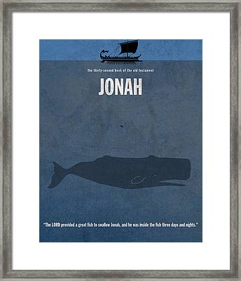 Jonah Books Of The Bible Series Old Testament Minimal Poster Art Number 32 Framed Print