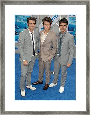 Jonas Brothers, Kevin Jonas, Nick Framed Print by Everett