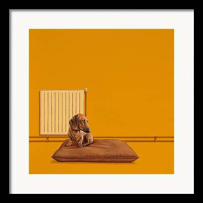 Dachshund Art Framed Prints