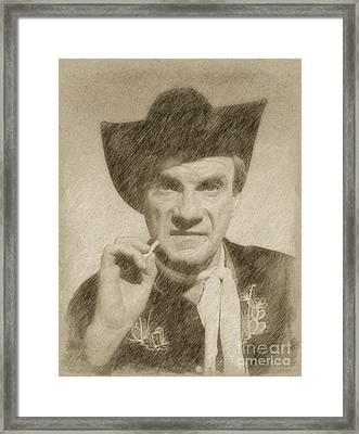 Jonathan Harris, Actor Framed Print by Frank Falcon