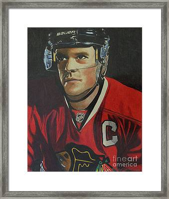 Jonathan Toews Portrait Framed Print