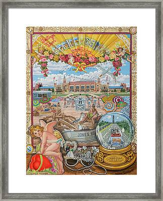 Jones Beach Love Story Framed Print