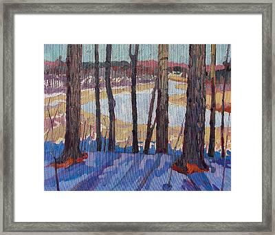 Jones Creek Morning Framed Print by Phil Chadwick