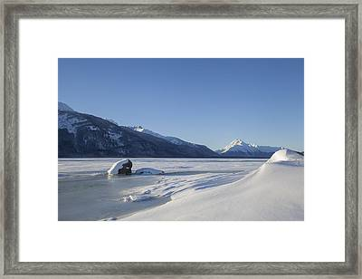 Jones Point In Winter Framed Print