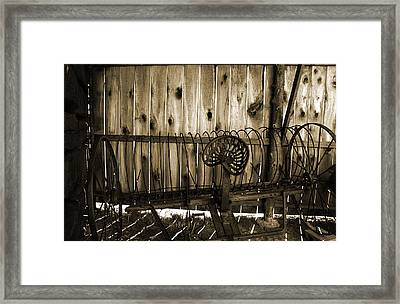 Framed Print featuring the photograph Jones Seat Sepia by Joanne Coyle