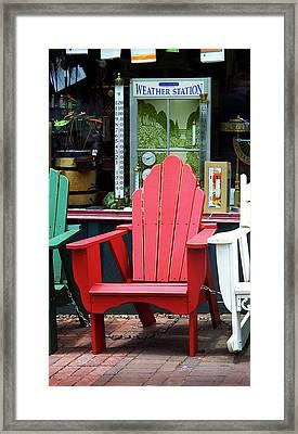 Jonesborough Tennessee - Comfy Chair Framed Print by Frank Romeo