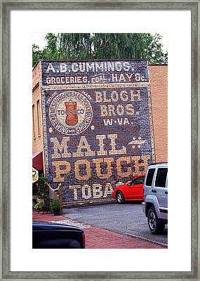 Jonesborough Tennessee - Ghost Mural Framed Print by Frank Romeo