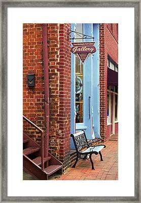 Jonesborough Tennessee Main Street Framed Print by Frank Romeo