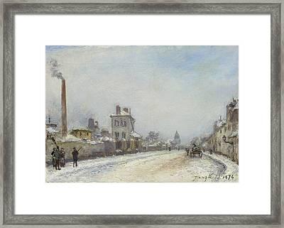 Jongkind, Johan Barthold Lattrop 1819 - 1891 Saint-egreve Street Scene In Paris In Winter, Rue Not Framed Print by Celestial Images