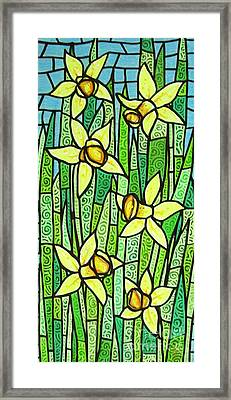 Framed Print featuring the painting Jonquil Glory by Jim Harris