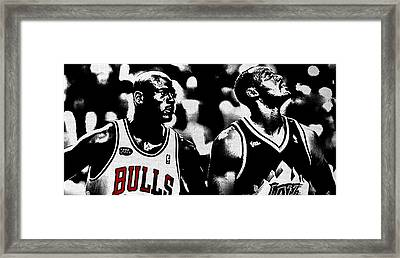 Jordan And Malone 2e Framed Print by Brian Reaves