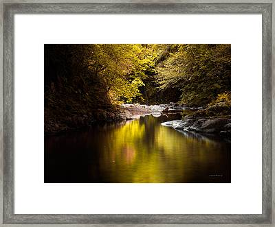Jordan Creek Framed Print by Leland D Howard
