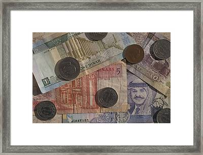Jordan Currency Framed Print by Richard Nowitz