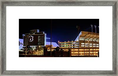 Jordan Hare Jumbotron Lights The Night Framed Print by JC Findley