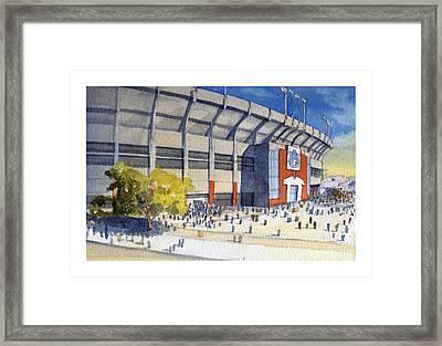 Jordan-hare Stadium Framed Print by Bill Whittaker