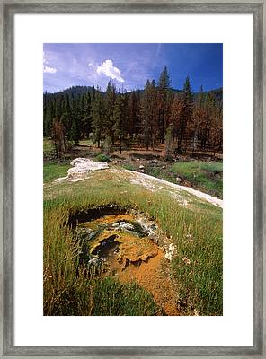 Jordan Hot Springs Framed Print by Soli Deo Gloria Wilderness And Wildlife Photography