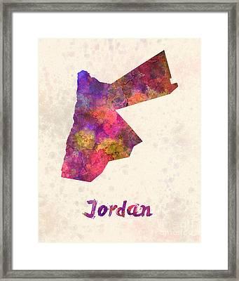 Jordan  In Watercolor Framed Print by Pablo Romero