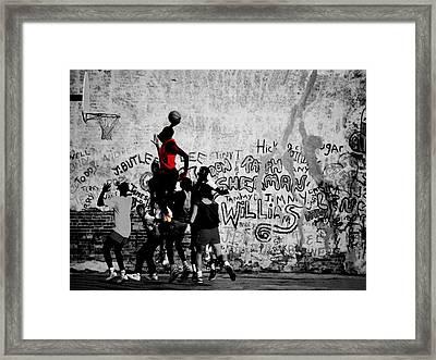 Jordan On The Playground Framed Print