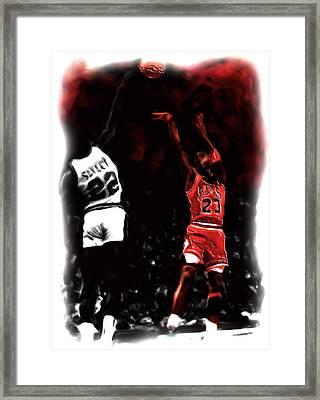 Jordan Over Salley Framed Print by Brian Reaves