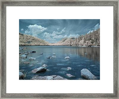 Jordan Pond Blue Framed Print