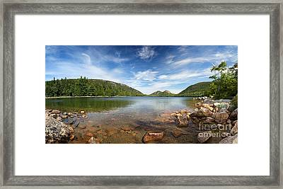 Jordan Pond Panorama Framed Print by Jane Rix