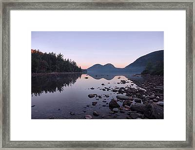 Jordan Pond Reflections - Acadia Framed Print by Stephen  Vecchiotti