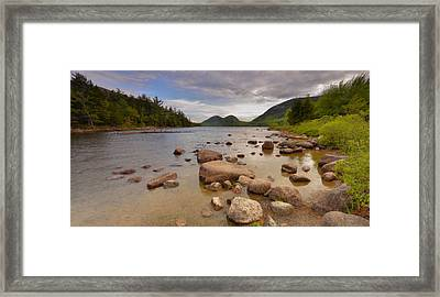 Framed Print featuring the photograph Jordan Pond  by Stephen  Vecchiotti