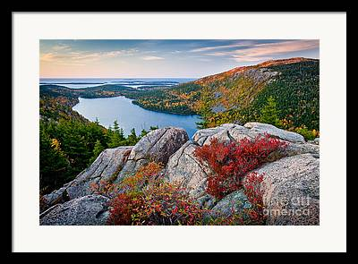 Maine Mountains Framed Prints