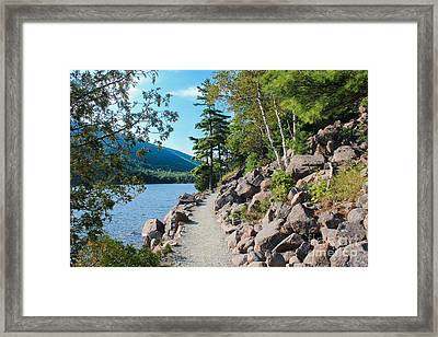 Jordan Pond Trail II Framed Print by Kathleen Garman