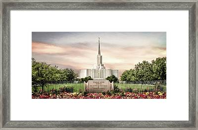 Jordan River Temple Framed Print
