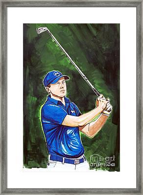 Jordan Spieth 2015 Masters Champion Framed Print by Dave Olsen
