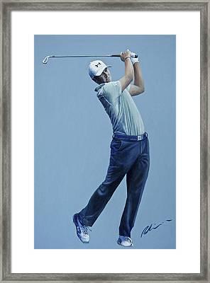 Jordan Spieth  Framed Print by Mark Robinson