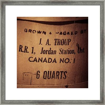 Jordan Station Framed Print by Chris Bordeleau
