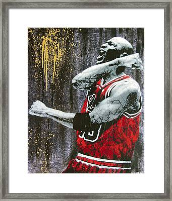 Jordan - The Best There Ever Was Framed Print by Bobby Zeik