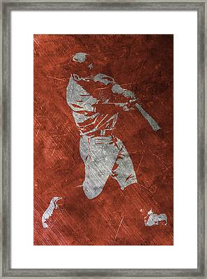 Jose Altuve Houston Astros Art Framed Print by Joe Hamilton