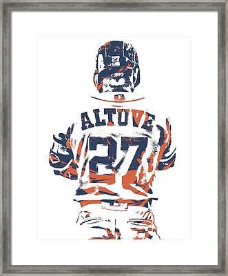 Jose Altuve Houston Astros Pixel Art 10 Framed Print